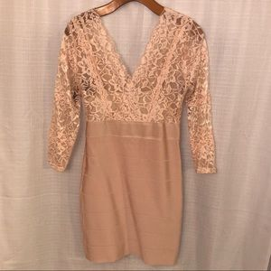 Bebe Lace/Bodycon dress